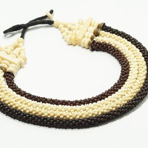 Ethnic Tribal Braided Multi Strand Necklace